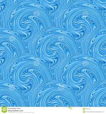 Seamless Blue Waves Texture Vector Stock Vector Illustration Of