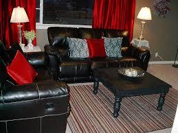 living room red home decor