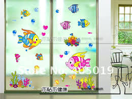 wall stickers sea fish window cling bathroom for home frosted homebase decor on wall art stickers homebase with wall stickers sea fish window cling bathroom for home frosted