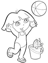 Coloriages De Dessins Anim S Dora Page 2