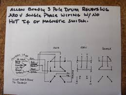 how do i wire up my drum switch 220v single phase if the diagram didnt load email me and ill send it to you