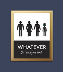 bathroom sign. Interesting Sign Unisex Bathroom Sign Funny Print By Bonmotprints Throughout