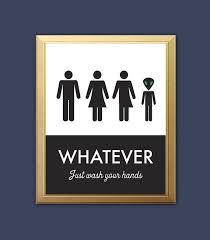 Unisex Bathroom Sign Funny Bathroom Print Unisex By Bonmotprints Amazing Unisex Bathroom Sign