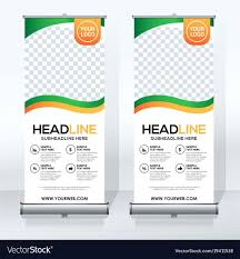banner design template template banner designs template creative roll up design vector