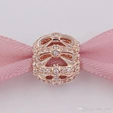 2019 925 silver beads shimmering sentiments p rose bow clear cz charm fits european pandora style jewelry bracelets 781779cz rose gold plated from
