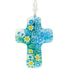 glass cross pendant