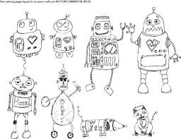 Printable Robot Coloring Pages Cute Free Printable Robot Coloring
