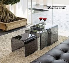 Coffee Table Design Ideas Smoked Glass Coffee Table Design In Modern Living Room
