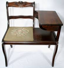 Hall Table And Chair Telephone Antiques  Google Search  Staging Telephone Bench Seat