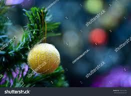 Mistletoe Ball Lights Christmas Holiday Ball Ornaments Snow Globe Stock Photo