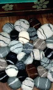 wool stone rug diy felt rock carpet felted bath mat floor soft pebbles ne home decor