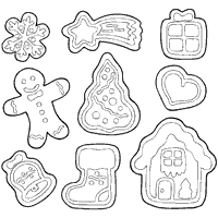 Small Picture Holiday Cookie Coloring Pages Coloring Pages