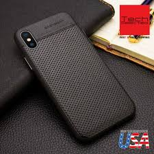 iphone x case lohasic premium leather slim and thin soft flexible gold for