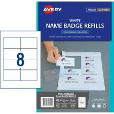 avery nametag avery name card refill laser labels l7418 8 per sheet