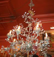 eight light morning glory flowered chandelier wrought iron and tole venetian glass crystal chandeliers