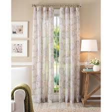 better homes and gardens fl blossom curtain panel ivory com