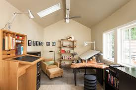 bay window desk home office modern. Ikea Sit Stand Desk Home Office Transitional With Ceiling Fan Converted Garage Bay Window Modern A