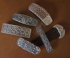 Oberon Design Hair Clips Oberon Design Celtic Collection Pewter Hair Accessories