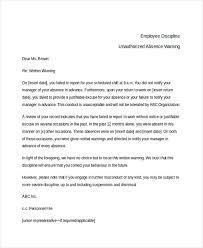 written warning template for attendance