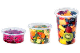 placon 8 16 32 round clear deli containers