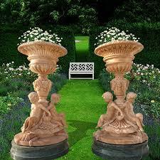 Decorative Garden Urns Stone Decorative Garden Planters With CherubVincentaa Sculpture 99