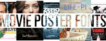 Fonts Posters Oscar Awarded Movie Fonts 2013 Linotype Font Feature