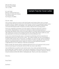 Cover Letter For New Teachers Cover Letters For New Teachers Sample
