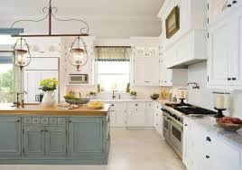 White Country Kitchen With Butcher Block platinumsolutionsus