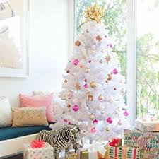 Decorated White Christmas Tree, Size: 6 feet