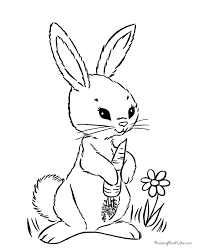Small Picture Easter Bunny Coloring Pages Free and Printable