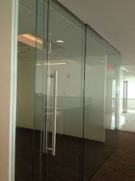 Transwestern MD  Frameless Glass Office Fronts With Sliding Doors
