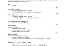 Resume Sample Basic Resume Simple Resume Layout Basic Resume