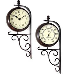 outdoor double sided clock thermometer designs