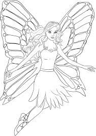 Mermaid Fairy Coloring Pages Free Printable Kids Coloring Pages ...