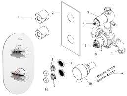 bristan artisan recessed dual control shower valve ar3 shcvo c shower spares bristan artisan recessed thermostatic