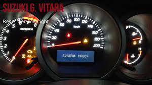 2007 Suzuki Grand Vitara Esp Light Suzuki Grand Vitara Reset Service Light