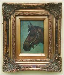oil painting of horse head oil on panel