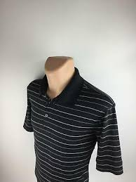champion men s black white striped short sleeve golf polo rugby shirt size xl