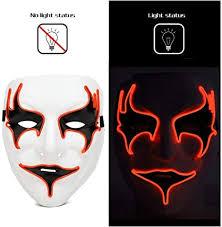 Hoshell Mask <b>Fashion Led</b> Party <b>Halloween Neon</b> Luminous Wire ...