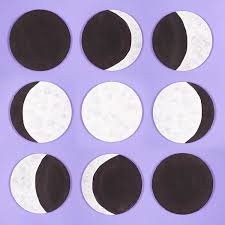 Phases Of The Moon Chart For Kids Moon Phase Canvases Free Craft Ideas Baker Ross