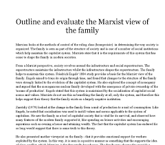 outline and evaluate the marxist view of the family a level  document image preview