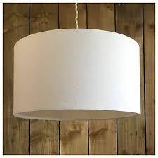 white linen fabric drum light shade