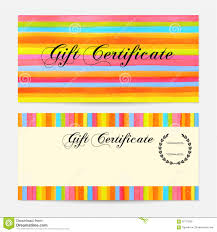 Product Line Card Template Gift Certificate Voucher Coupon Gift Money Bonus Gift Card