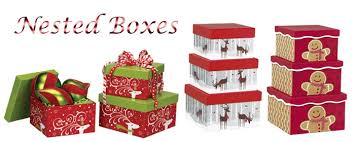 BOXCO Stacking boxes come in sets of 3 nested boxes. Nested boxes are  sturdy and have a white matte and high gloss finish. Boxes are perfect for  gifts as ...