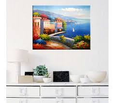 creative modern art painting rich retro seaside house canvas wall art home decor unframed  on home decor wall art painting with buy landscape oil painting on canvas unframed art wall decoration