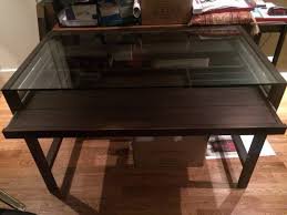 Office desk glass top Large Crate And Barrel Office Desk Glass Top Furniture Depot Crate And Barrel Office Desk Glass Top Home Design Inspirative
