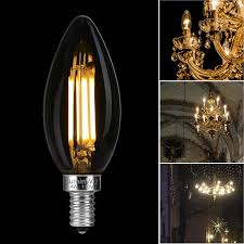 led candelabra bulbs luminwiz 4w 2700k e12 base led filament chandelier light bulbs 40w equivalent warm white 6 pack