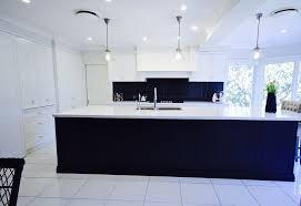 Kitchen Designs Castle Hill Two Tone Hamptons Style Polyurethane Shaker Profile