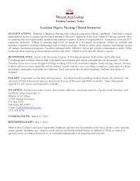 Ideas Collection Cover Letter Nursing Clinical Instructor For