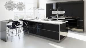 Black And White Modern Kitchen Kitchen Room Black Kitchen Ideas Kitchen Wood Flooring Kitchen